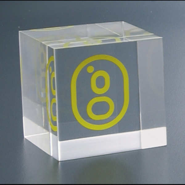 "Lucite (r) - Blank Goods. Embedment Cube Award, 2"" X 2"" X 2"" Photo"