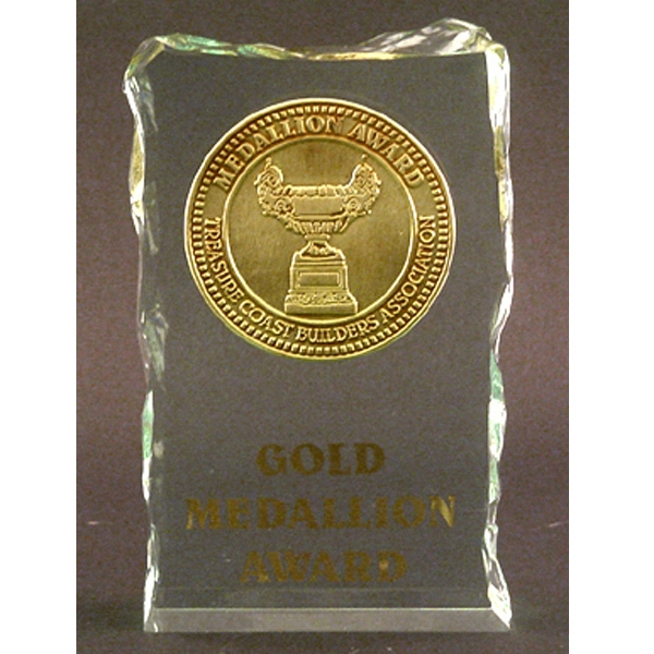 "Blank Goods. Ice Effect Embedment Award, 5"" X 3"" X 1"" Photo"