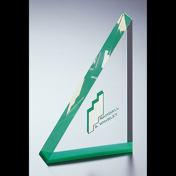 "Blank Goods. Triangle Embedment Award, 4"" X 6 X 1"" Photo"