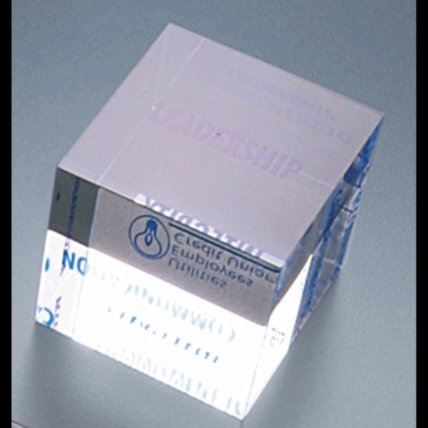 "Corporate Series - Blank Goods. Clear Acrylic Cube Paperweight, 2"" X 2"" X 2"" Photo"