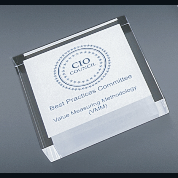 "Corporate Series - Blank Goods. Clear Acrylic Square Paperweight, 2 1/2"" X 2 1/2"" X 3/4"" Photo"