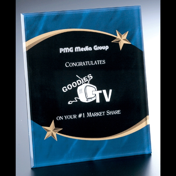 "Shooting Star Series - 9"" X 11"" X 3/8"" - Blank Goods. Acrylic Award With Beveled Front Photo"