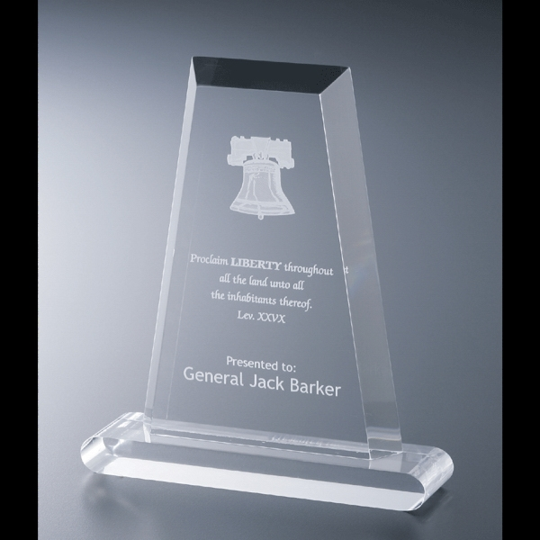 "Executive Series - Blank Goods. Acrylic Executive Flat Obelisk Award, 5"" X 7"" X 3/4"" Photo"