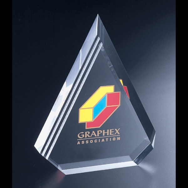 "Corporate Series - Blank Goods. Clear Acrylic Corporate Peak Award, 6 1/2"" X 8"" X 1 1/4"" Photo"
