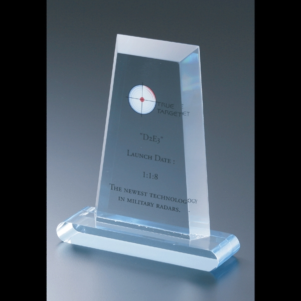 "Executive Series - Blank Goods. Acrylic Flat Obelisk Award, 4"" X 6"" Photo"