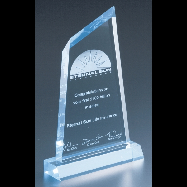 "Executive Series - Blank Goods. Acrylic Executive Award, 4 1/4"" X 8 1/4"" X 3/4"" Photo"