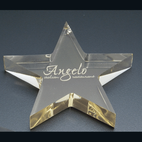 "Executive Series Executive Series - Blank Goods. Acrylic Star Shape Paperweight,  4 1/2"" X 4 1/2"" X 3/4"" Photo"