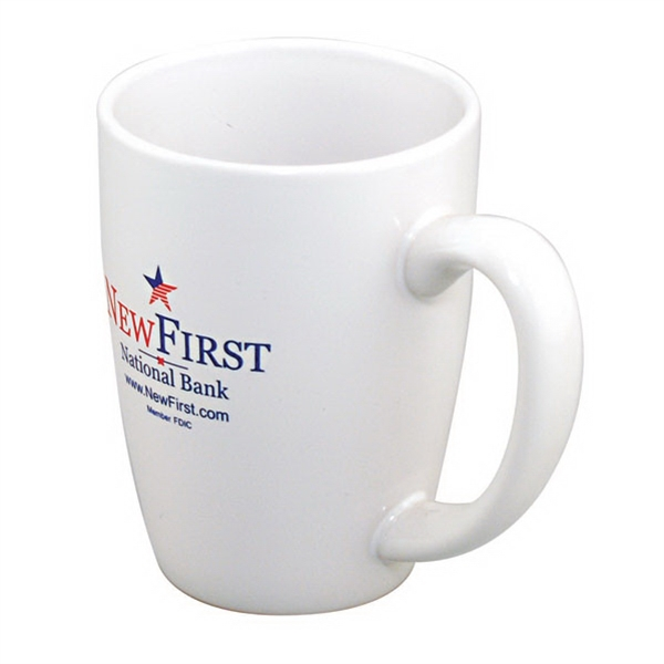 Challenger Grande - White Ironstone Unique Shape Mug, 14 Oz. 2-day Quickship Photo