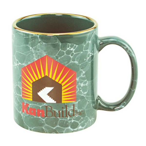 11oz Marbleized Mug With C Shaped Handle Photo