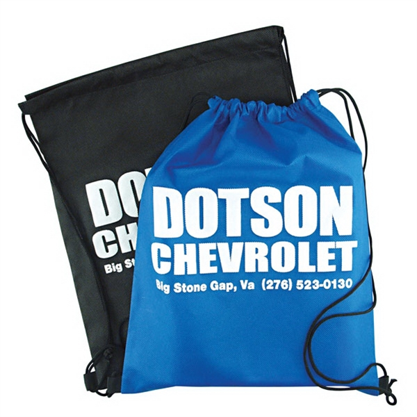 "13""x16-1/2"" Non Woven Sports Bag With Drawstring. 5-day Quickship Photo"