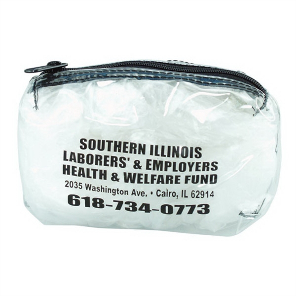 "All Purpose Clear Vinyl, W 6"" X 4"" Bag With 2"" Gusset Bottom And Nylon Zipper Photo"