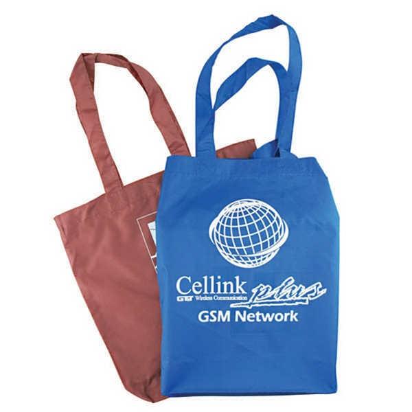 "Polyester Value Tote With 18"" Handles, W11""x13-3/4""x3"". 5-day Quickship Photo"