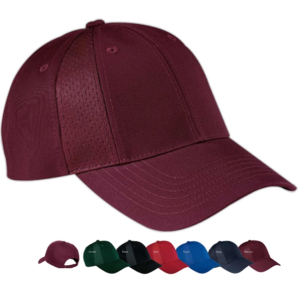 Port Authority (r) - Mesh Insert Cap With Hook And Loop Closure, 100% Cotton 8 Panel Photo