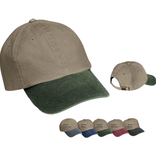 Port & Company (r) - Two Tone Unstructured Low Profile Pigment Dyed Cap, 6 Panels Photo