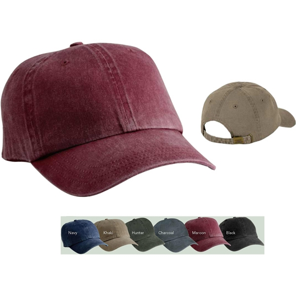 Port & Company (r) - Pigment Dyed, Unstructured Cap With Low Profile, Black Photo
