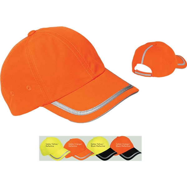 Port Authority (r) Coolmax (r) - Safety Cap With Reflective Taping And Fluorescent Colors Photo