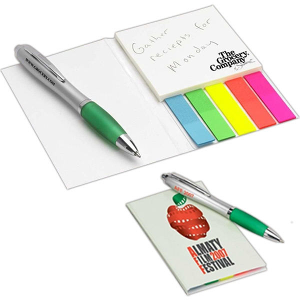 "Note-tote - Adhesive Notes Pocket Organizer Holds 3"" X 3"" 50-sheet Notepad And 100 Flags Photo"