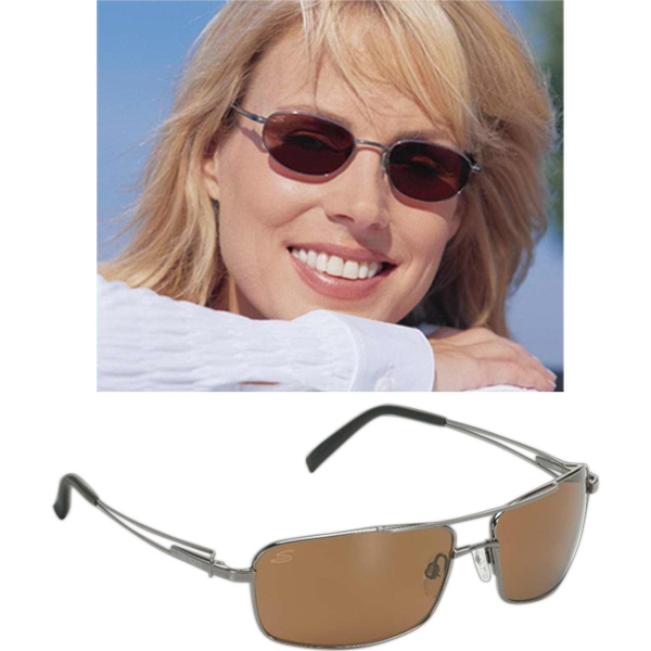 Serengeti (r) Dante - Shiny Gunmetal Frame Sunglasses With Driver Polarized Lens Photo