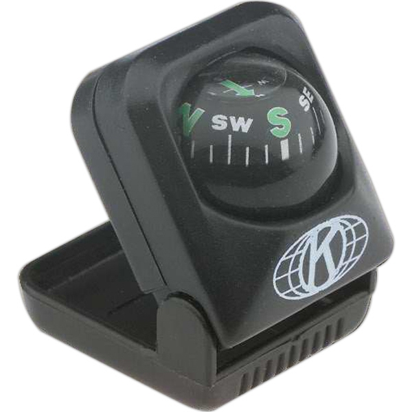 Handi - Mini Black Compass, With Tilt Base That Adjusts To Correct Angle Photo