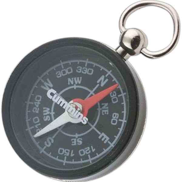 Black Round Pocket Compass Photo