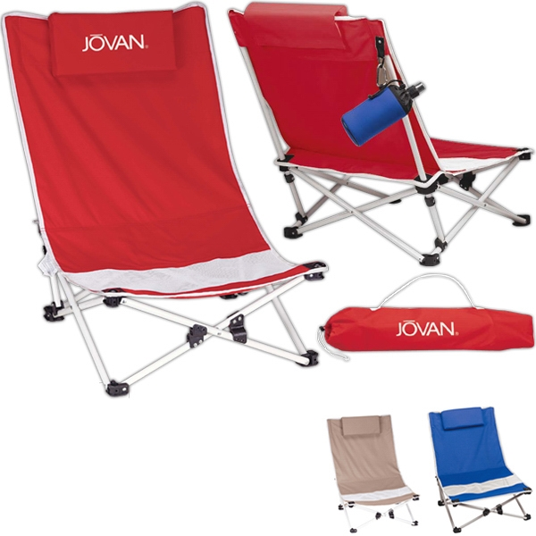 Mesh Beach Chair Made Of 600 Denier Polyester, Low-slung With Mesh Insert In Seat Photo
