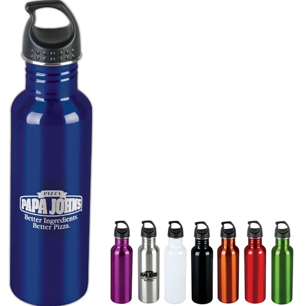 36-Hour - Wide Mouth Stainless Steel Sport Bottle, 25 Oz - Free Rush Photo