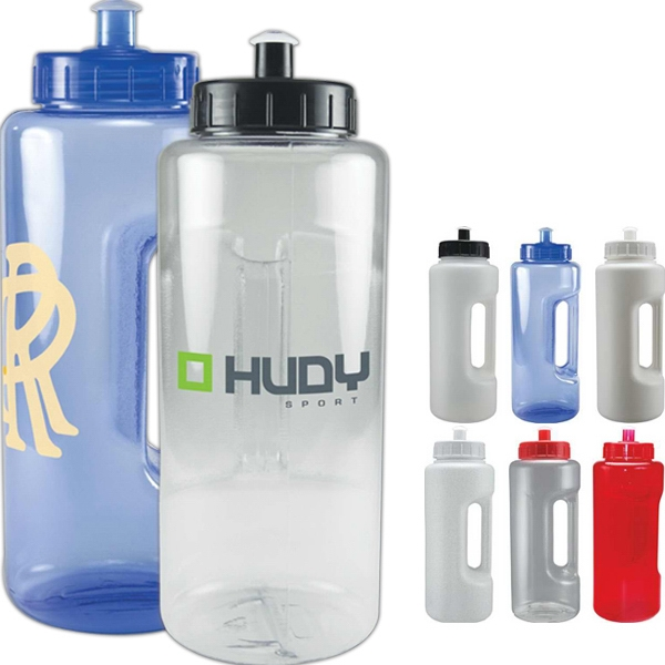 Gripp 'n Sipp - Push Pull Lid - Grip Handled Translucent Sports Bottle Photo