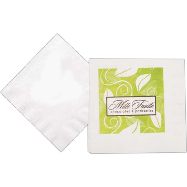 500 Line - White Folded Three Ply Luncheon Napkin Made From Recycled Materials Photo