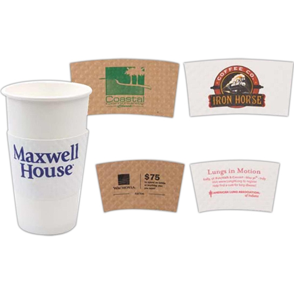 Java Jacket 500 Line - White - Large Insulated Beverage Wraps Jackets, Fit 16 To 20 Oz. Cups Photo