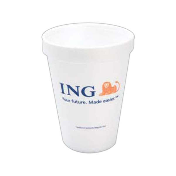 High Lines - Foam 12 Oz. Hot Or Cold Cups, Product Can Be Recycled Photo