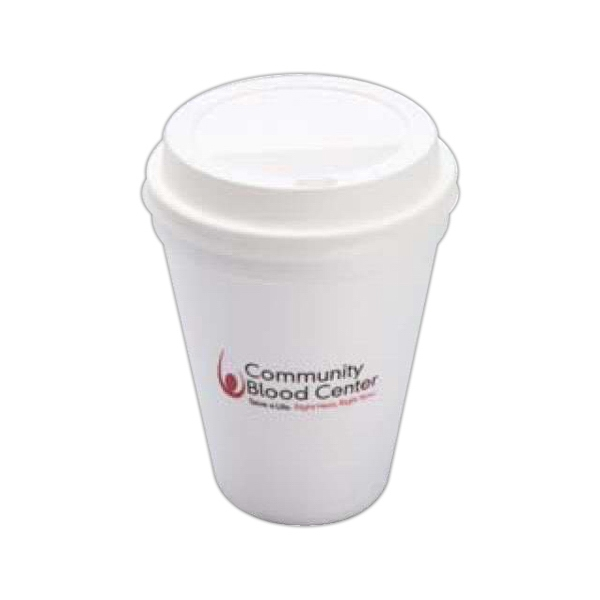 High Lines - Foam 10 Oz. Hot Or Cold Cups, Product Can Be Recycled Photo