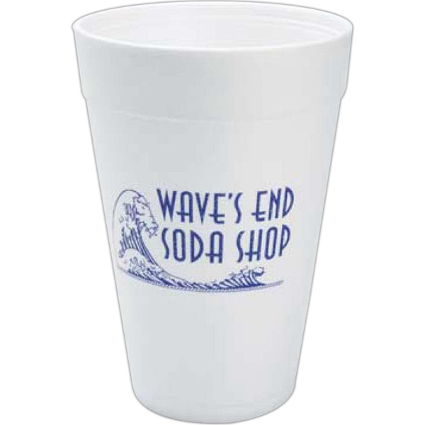 High Lines - Foam 32 Oz. Hot Or Cold Cups, Product Can Be Recycled Photo