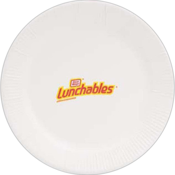 "High Lines - 15 Working Days - White 9"" Round Paper Plate Photo"