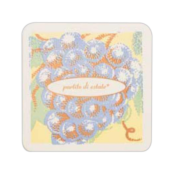 "500 Line - 5 Working Days - Natural 4"" Square 110 Point Pulp Board Coaster Photo"