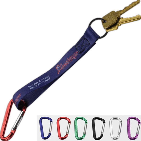 Dye Sublimated Key Chain with Carabiner
