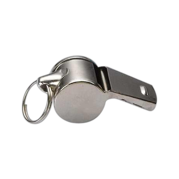Bright Metal Whistle With Small Split Ring Photo