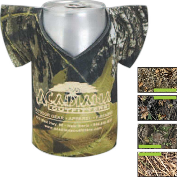 "Camo Can Jersey (tm) - Trademark Camouflage Can Insulator Sleeve, 1/8"" High-density Open-cell Scuba Foam Photo"