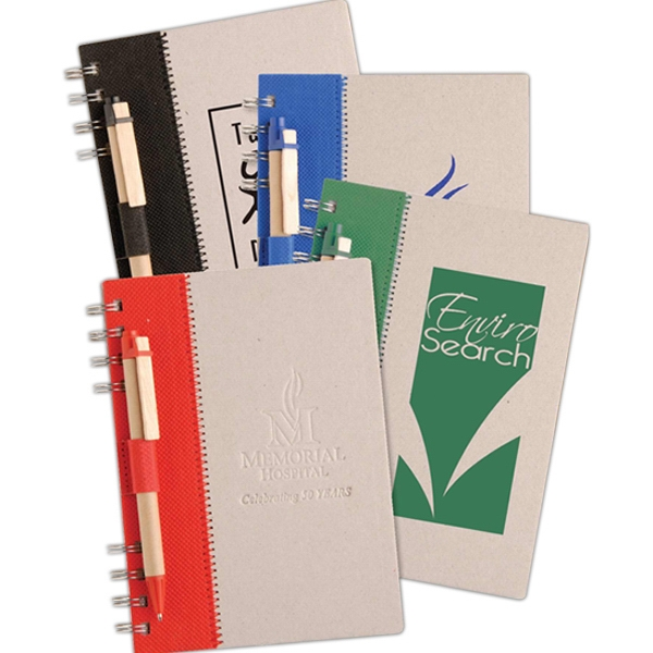 Terra - Notebook With Recycled Cardboard Cover And Eco-friendly Pen Photo