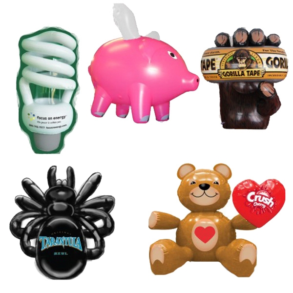 12 inch - 8ft Air Sealed Inflatable Replica or Custom Shape - Twelve inches to 8 foot inflatable.  Advertising Inflatables Inflatable Wholesale