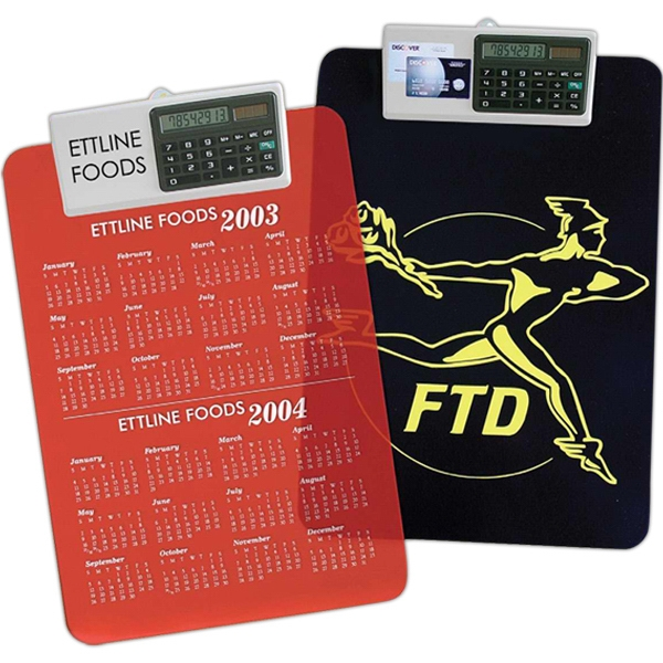 Letter Size Clipboard with Dual Power Calculator Clip