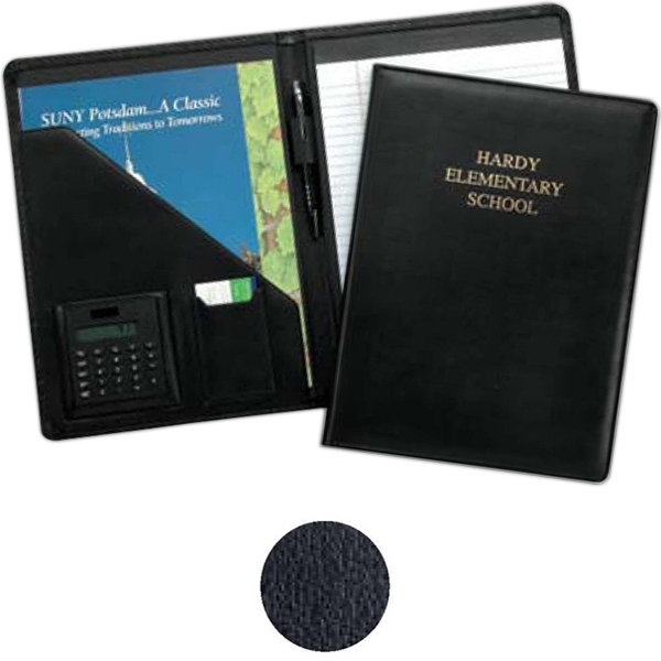 Milan Pad Holder With Calculator - Padfolio Features Stitched And Padded Covers And Soft Touch Calculator Photo