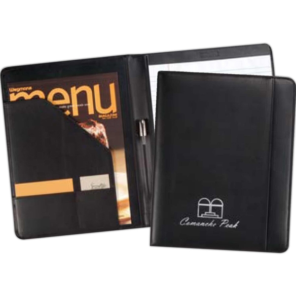 Ambassador - Genuine Top Grain Leather Business Folder, A Classic Leather Padfolio Photo