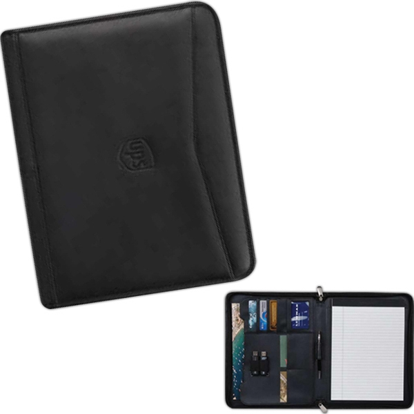 Ambassador - Padfolio Features Handsome, Rich And Genuine Top Grain Leather And Exterior Pocket Photo