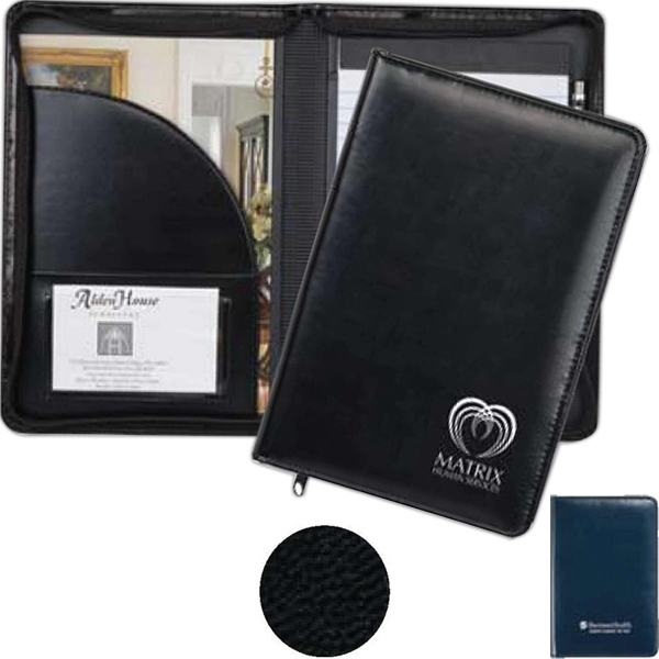 Wexford - Junior Zippered Padfolio Made Of Simulated Leather And Zipper Closure Photo