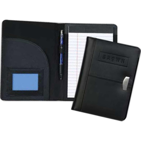 Achiever Jr. Pad Folder - Junior Premium Bonded Leather Writing Pad With Metal Accent Photo