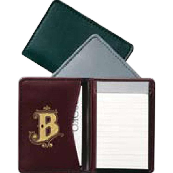 Newport - Pocket Sized Jotter Made From Simulated Leather With Card Pocket And Sheet Pad Photo