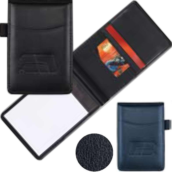 Tuscany - Blue - Memo Jotter Made From Simulated Leather Photo