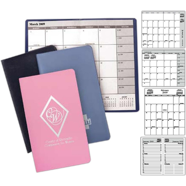 Simulated Leather - Academic Style Monthly Planner, Month On A Page Format With 32 Pages Photo