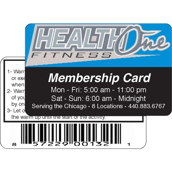 Membership Card With 0.030 Thickness, Heavy Laminated On Both Sides Photo