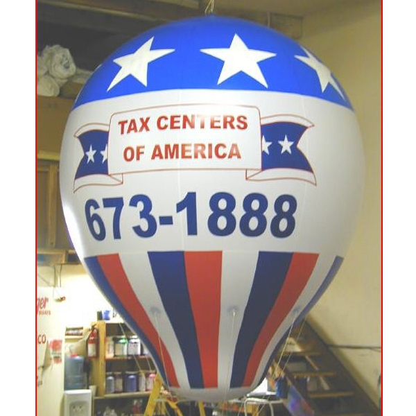 Balloon - Hot air shape balloon in various sizes.  Inflatable Promotional.